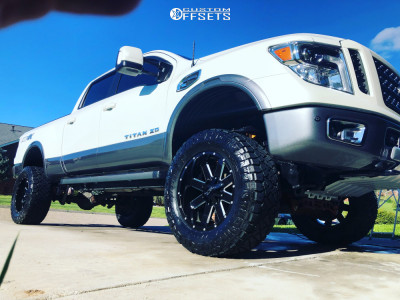"2018 Nissan Titan XD - 20x10 -24mm - Ion Alloy 141 - Suspension Lift 6"" - 35"" x 13.5"""