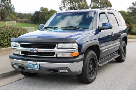 2002 Chevrolet Tahoe - 17x9 -12mm - American Outlaw Buckshot - Stock Suspension - 265/70R17