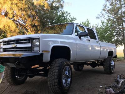 """1987 Chevrolet V20 - 20x12 -44mm - Vision Rocker - Suspension Lift 8"""" - 37"""" x 12.5"""""""