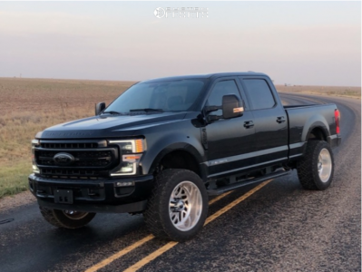 """2020 Ford F-250 Super Duty - 22x12 -44mm - Fuel Forged Ff29 - Leveling Kit - 35"""" x 12.5"""""""