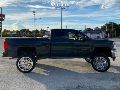 "2018 Chevrolet Silverado 1500 - 24x14 -76mm - RBP 71r - Suspension Lift 9"" - 35"" x 13.5"""