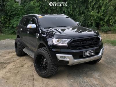 "2019 Ford Explorer - 20x12 -44mm - Scorpion Sc17 - Stock Suspension - 33"" x 12.5"""