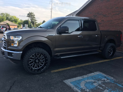 """2016 Ford F-150 - 22x12 -51mm - Xtreme Force Xf10 - Leveling Kit - 33"""" x 12.5"""""""