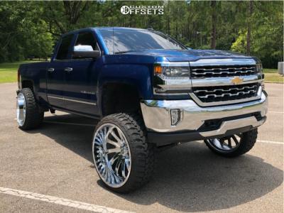 "2018 Chevrolet Silverado 1500 - 26x14 -76mm - Hardcore Offroad Hc15 - Suspension Lift 9.5"" - 35"" x 13.5"""