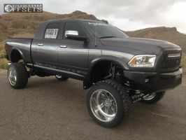 """2014 Ram 2500 - 24x14 -76mm - American Force Fuse SS - Lifted >9"""" - 37"""" x 13.5"""""""