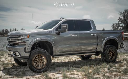 """2020 Chevrolet Silverado 1500 - 22x10 -13mm - Fuel Rebel - Suspension Lift 8"""" - 37"""" x 12.5"""""""