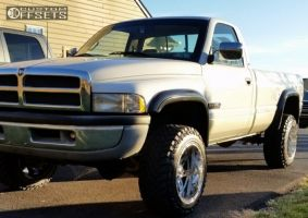 "1997 Dodge Ram 2500 - 20x12 -44mm - Fuel Hostage - Suspension Lift 3"" - 33"" x 12.5"""