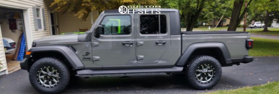 2020 Jeep Gladiator - 17x8 0mm - Moto Metal Mo970 - Stock Suspension - 285/70R17