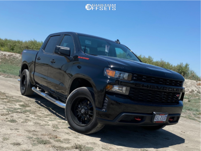 """2020 Chevrolet Silverado 1500 - 20x9 -25mm - Panther Offroad 580 - Stock Suspension - 33"""" x 10.5"""""""