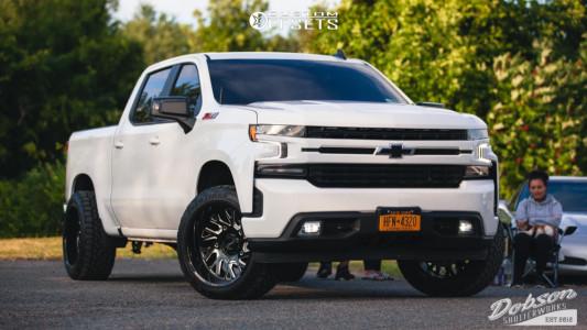"2020 Chevrolet Silverado 1500 - 22x12 -44mm - Tuff T4b - Leveling Kit - 33"" x 12.5"""