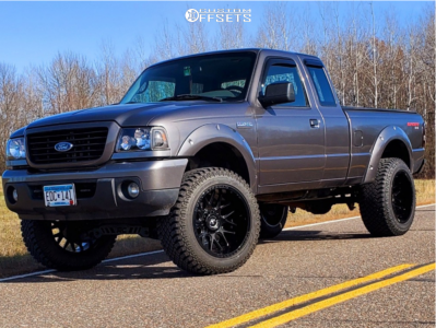 "2009 Ford Ranger - 20x12 -44mm - Motiv Offroad Magnus - Suspension Lift 5"" - 33"" x 12.5"""