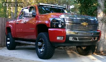 2010 Chevrolet Silverado 1500 - 18x10 -12mm - Diamo DI017 - Leveling Kit & Body Lift - 305/70R18