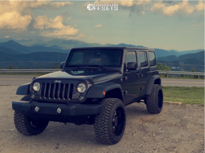 "2014 Jeep Wrangler JK - 22x12 -44mm - Rbp 89r - Lifted - 33"" x 12.5"""