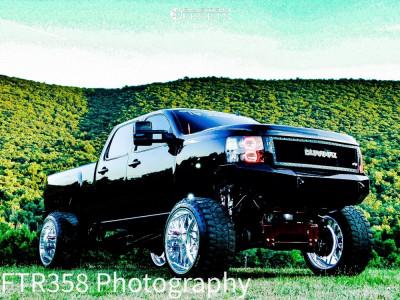 "2013 Chevrolet Silverado 3500 HD - 26x16 -74mm - Specialty Forged C702 - Suspension Lift 10"" - 38"" x 15.5"""