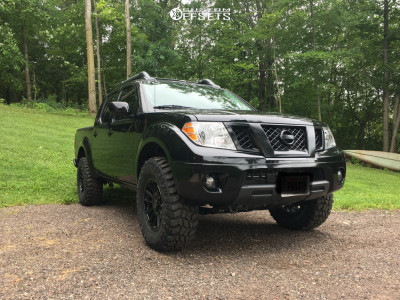 2019 Nissan Frontier - 17x8.5 18mm - American Racing Ar933 - Leveling Kit - 285/70R17