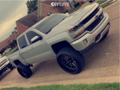 "2017 Chevrolet Silverado 1500 - 26x14 -72mm - Tuff T2a - Suspension Lift 6"" - 35"" x 13.5"""