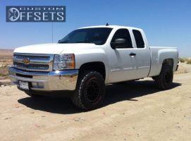 """2013 Chevrolet Silverado 1500 - 17x8.5 0mm - Method NV - Leveling Kit - 33"""" x 12.5"""""""