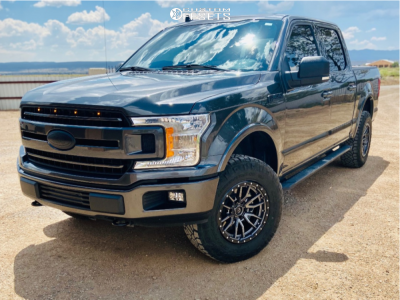 2019 Ford F-150 - 18x9 1mm - Fuel Rebel - Leveling Kit - 275/70R18