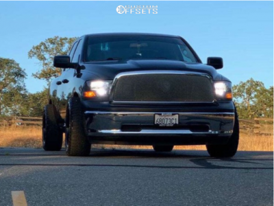 "2011 Dodge Ram 1500 - 20x10 -27mm - Havok H110 - Lowered 2F / 4R - 27"" x 55"""
