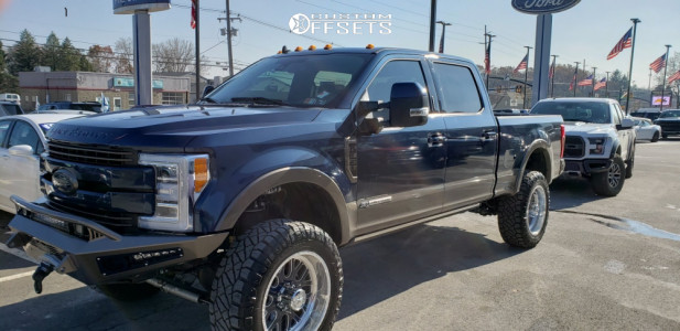 """2019 Ford F-350 Super Duty - 22x11 0mm - American Force Fallout Fp - Suspension Lift 6"""" - 37"""" x 12.5"""""""