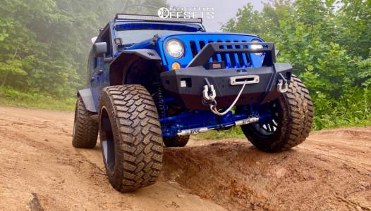 "2017 Jeep Wrangler - 24x14 -76mm - TIS 544bm - Suspension Lift 8"" - 40"" x 15.5"""