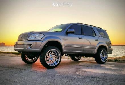 """2004 Toyota Sequoia - 22x12 -44mm - Fuel Triton D609 - Suspension Lift 5.5"""" - 275/45R22"""