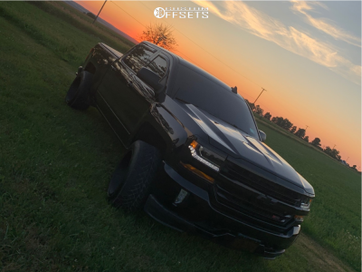 2017 Chevrolet Silverado 1500 - 20x12 -55mm - Vision Sliver - Leveling Kit - 305/55R20