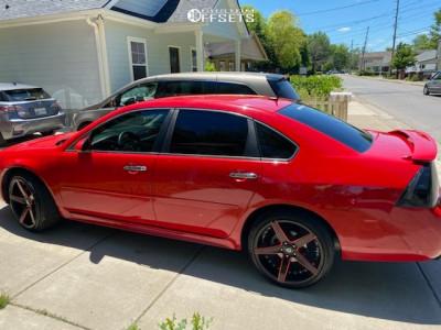 2012 Chevrolet Impala - 20x9 33mm - Marquee Luxury M3226 - Stock Suspension - 245/35R20