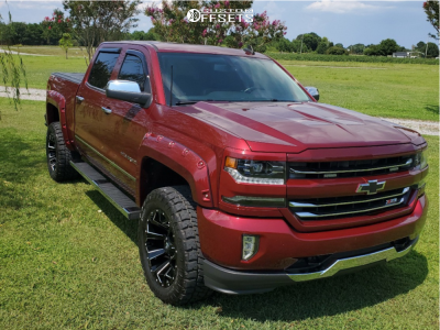 "2016 Chevrolet 1500 - 20x10 -24mm - Fuel 576 - Suspension Lift 3.5"" - 305/55R20"