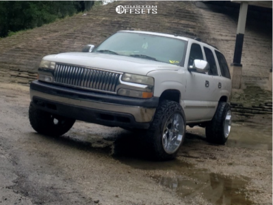 """2004 Chevrolet Tahoe - 20x14 -77mm - Cali Off-Road Twisted - Leveling Kit - 33"""" x 12.5"""""""