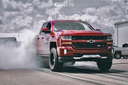 "2016 Chevrolet 1500 - 20x10 -19mm - Hostile H107 - Suspension Lift 3"" - 33"" x 11.5"""