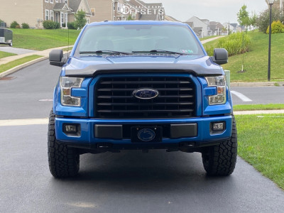 2016 Ford F-150 - 20x10 -19mm - Fuel Vandal - Leveling Kit - 285/60R20