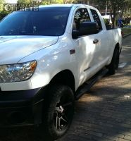 2013 Toyota Tundra - 20x9 15mm - American Outlaw Hollywood - Leveling Kit - 275/55R20