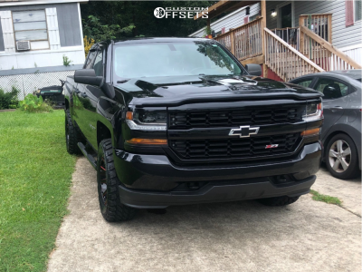 """2016 Chevrolet 1500 - 20x9 2mm - Fuel Contra - Leveling Kit - 33"""" x 12.5"""""""