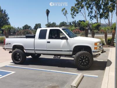 "1996 Chevrolet C1500 - 20x12 -44mm - Hardrock Affliction - Suspension Lift 6"" - 35"" x 12.5"""