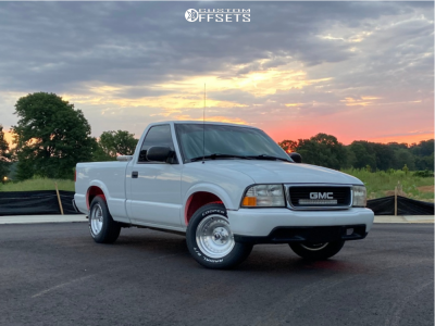 1999 GMC Sonoma - 15x8 -19mm - American Racing Outlaw I - Stock Suspension - 235/60R15