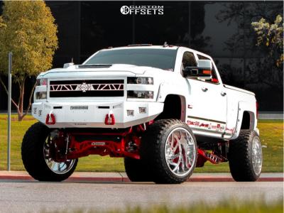 "2018 Chevrolet Silverado 2500 HD - 26x16 -101mm - KG1 Forged Bounty - Suspension Lift 9"" - 38"" x 15.5"""