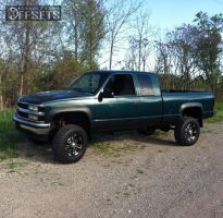 "1995 Chevrolet Silverado 1500 - 16x8 12mm - RTX Crush - Suspension Lift 6"" - 285/75R16"
