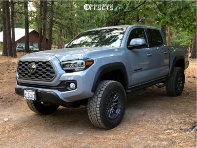 "2020 Toyota Tacoma - 18x9 -12mm - Fuel Rebel - Suspension Lift 3"" - 285/65R18"