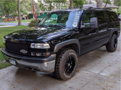 2003 Chevrolet Suburban 1500 - 17x10 -24mm - Moto Metal Mo962 - Stock Suspension - 265/70R17