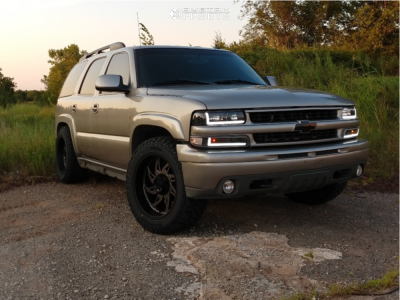 "2003 Chevrolet Tahoe - 20x10 -25mm - Ultra Villain - Lowered on Springs - 33"" x 12.5"""