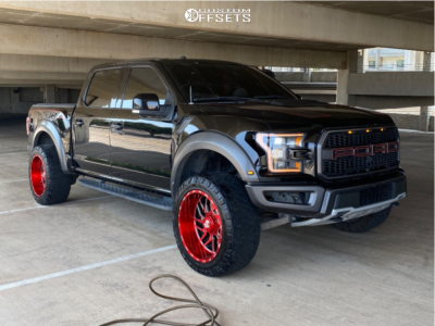 """2018 Ford F-150 - 22x12 -44mm - Tis 544rm - Stock Suspension - 35"""" x 12.5"""""""