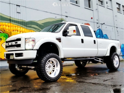 """2009 Ford F-350 Super Duty - 22x14 -73mm - American Force Liberty Ss - Suspension Lift 6.5"""" - 37"""" x 13.5"""""""