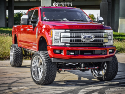 """2017 Ford F-250 Super Duty - 26x14 -73mm - American Force Blade Ss8 - Lifted >12"""" - 40"""" x 15.5"""""""
