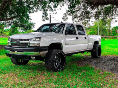"2007 Chevrolet Silverado 2500 HD Classic - 24x14 -76mm - TIS 544mb - Suspension Lift 3"" - 33"" x 14.5"""