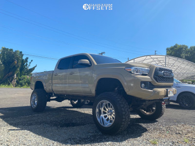 """2017 Toyota Tacoma - 20x12 -33mm - American Force Afw74 - Suspension Lift 10"""" - 35"""" x 12.5"""""""