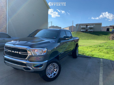 """2019 Ram 1500 - 20x12 -44mm - Hostile Forged Chaos - Suspension Lift 6"""" - 35"""" x 12.5"""""""