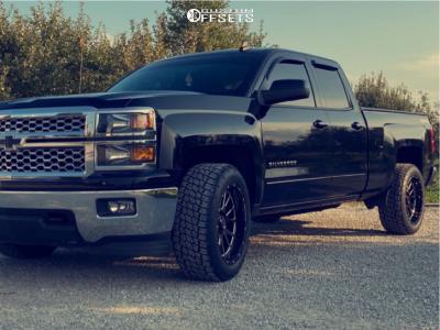 "2015 Chevrolet Silverado 1500 - 20x10 -25mm - Wicked Offroad W907 - Stock Suspension - 32"" x 11.5"""