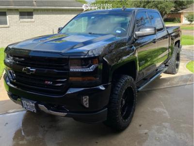 """2018 Chevrolet Silverado 1500 - 20x10 -19mm - Hostile Sprocket - Leveling Kit - 33"""" x 11.5"""""""