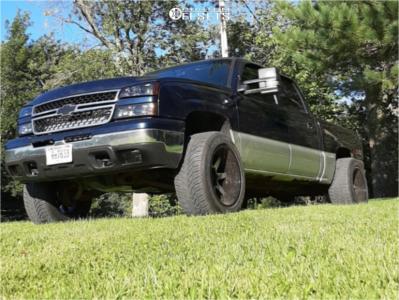 "2007 Chevrolet Silverado 1500 Classic - 20x12 -51mm - Toxic Widow - Leveling Kit - 32"" x 12.5"""